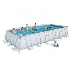 Rectangular Power Frame Pool Set 732 x 366 x 132cm