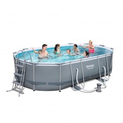 Power Steel Oval Pool 488 x 305 x 107cm