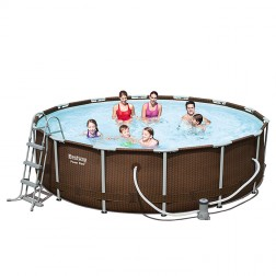 Power Steel Rattan Pool 427 x 107cm