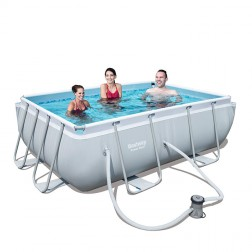 Power Steel Rectangular Pool 282 x 196 x 84cm