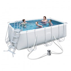 Rectangular Power Frame Pool 412x201x122 cm
