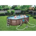 Oval Frame Pool Swim Vista 427x250x100cm