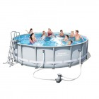 Power Steel Frame Pool Set 488x122cm